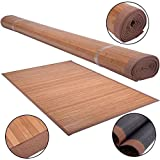 New 5' X 8' Bamboo Floor Mat Rug Carpet Natural Bamboo Area Rugs Roll Wood Entrance Indoor Outdoor Kitchen Bath Bathroom Décor Home Office