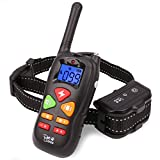 Shock Collar for Dogs - Waterproof Dog Training Collar with Remote 1100 Ft Rechargeable Shocking Collar with Reflective Double Band (For one dog)