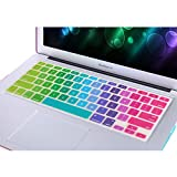NSSTAR Colorful Contrast Color Premium Ultra Thin Keyboard Skin Cover Protector for 13