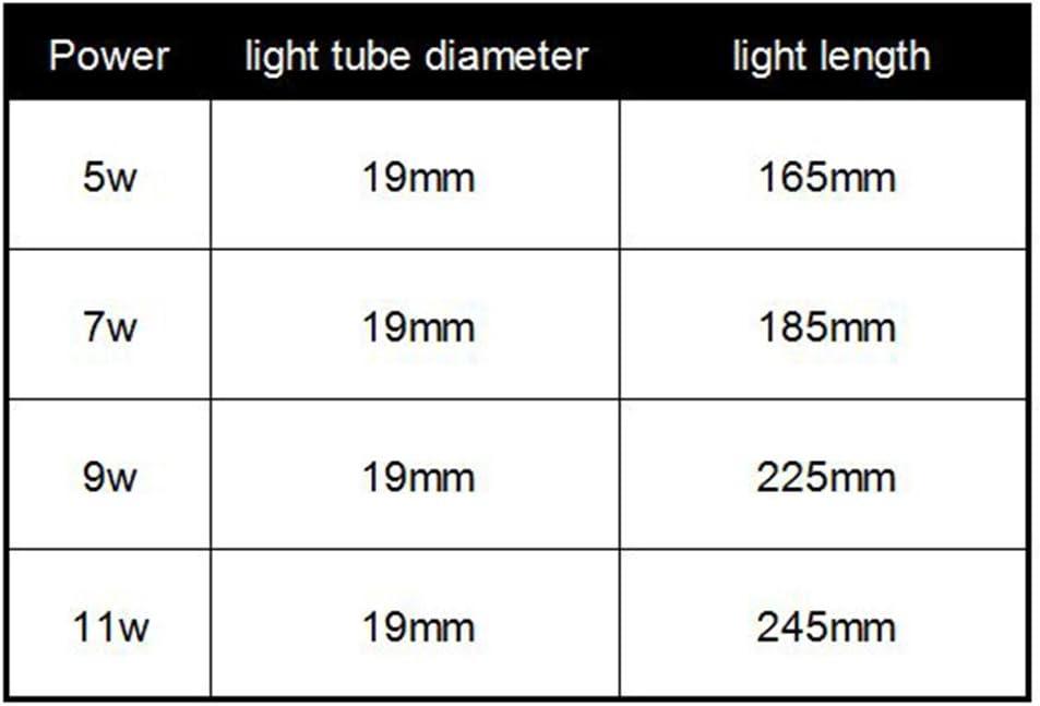 Hinmay 5/W 7/W 9/W 11/W sommergibile luce UV sterilizzatore per pompa filtro acqua Clean alghe verdi batteri uccidere Lifetime lampada impermeabile sterilizzazione di ricambio per acquario
