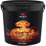 3000g / 3Kg Anabol Masse Komplex, Whey Eiweißpulver, Vanille oder Erbeergeschmack, Protein - Hardgainer/Aminosäuren + Glutamin/Muskelaufbau (VANILLE)