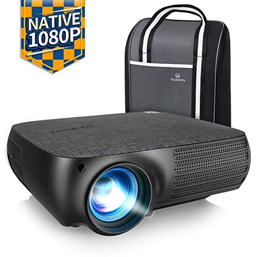 VANKYO Performance V610 Native 1080P LED Projector, Full HD Video Projector with 6000 Lux, ±40° Digital Keystone Correction, Compatible with Smartphone, TV Stick, HDMI, SD, AV, VGA, USB for PowerPoint