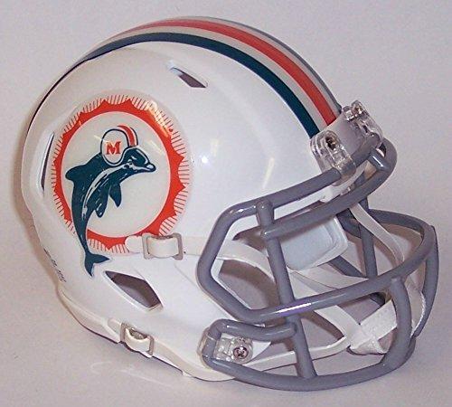 - Miami Dolphins 1966 Tribute Riddell Speed Mini Football Helmet - New in Riddell Box