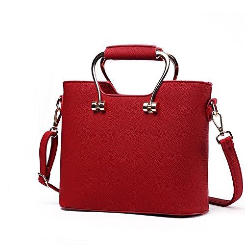 rosso a Bag Donna borsa a Borsa Borse Vino Mano pelle Designer AVERIL G Fashion PU Spalla cfqZWc7FR