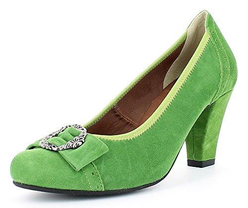 Zierschnalle con verde Costume per tradizionale Hirschkogel Pumps il scarpe belle xP1Ewf