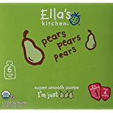 Ella's Kitchen 4+ Months Organic Baby Food, Pears Pears Pears, 2.5 oz.