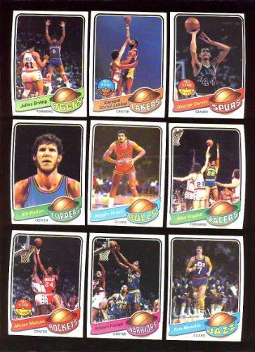 - 1979/80 1979 - 1980 Topps Basketball Complete Set 132 Cards Exmt Erving, Jabbar , Walton