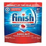Finish Max in 1 Powerball, 67ct, Wrapper Free Dishwasher Detergent Tablets