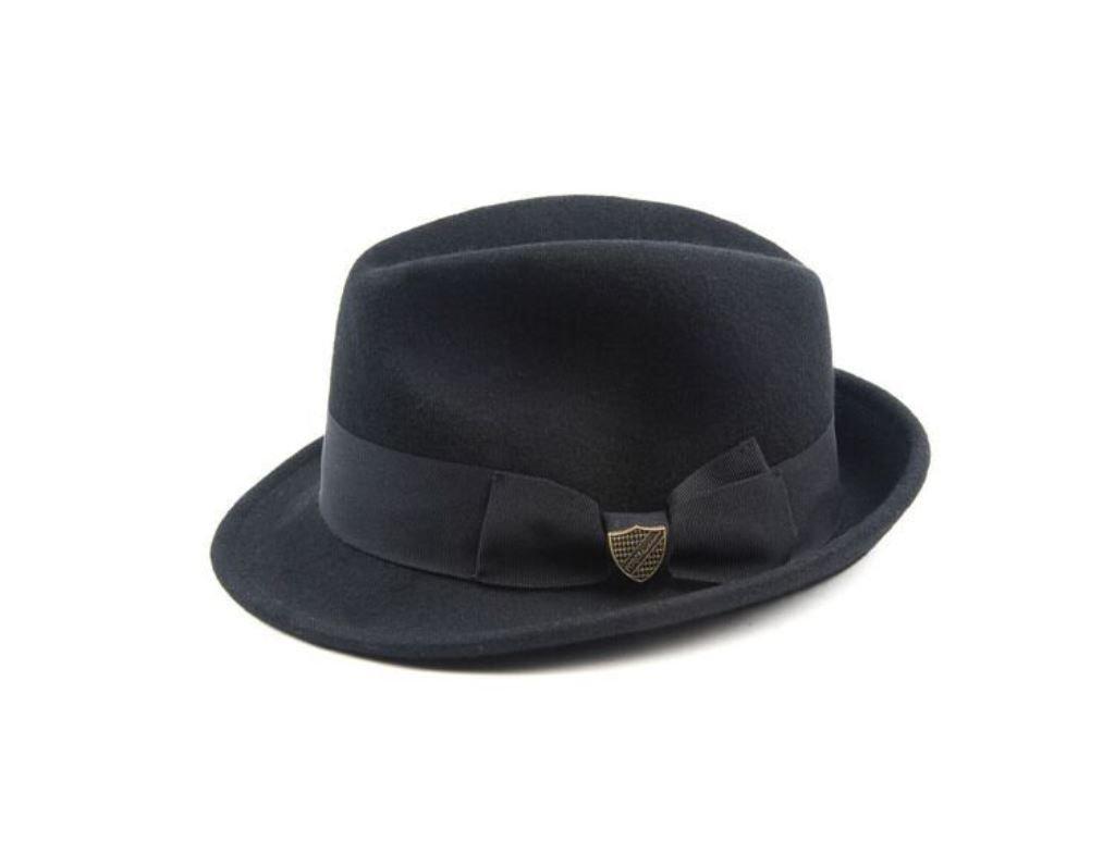 Fore!! Axel & Hudson Boys' Felt Gentlemans Fedora S/M Black