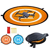 Drones Landing Pad, Universal Waterproof D 75cm/30'' Portable Foldable Landing Pads for RC Drones Helicopter, PVB Drones, Drones Phantom 2/3/4/, DJI Spark DJI Mavic 2/Pro, 3DR Solo (Landing pad)