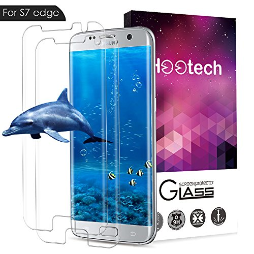 AOFU Samsung Galaxy S7 Edge Tempered Glass Screen Protector, [Bubble-Free][9H Hardness][Anti-Scratch] Wet Applied HD Clear Film Screen Protector for Galaxy S7 Edge-2 Pack