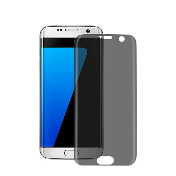 timeless design 858f4 9b813 Galaxy S7 Edge Tempered Glass Screen Protector, Privacy Anti-Spy 3D Curved  Full Coverage Anti-Scratch, Anti-Fingerprint, Bubble Free 0.3mm Ultra Thin  ...