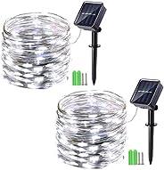 Solar String Lights 2 Packs 150 LED Fairy Lights