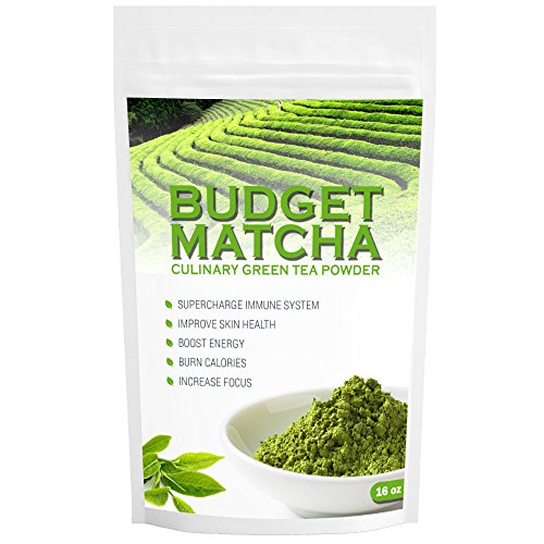RLT Budget Matcha (16oz) - Green Tea Powder - 4 x amount of others - USDA Organic - Ideal for Starters - Great Quality at Low Cost