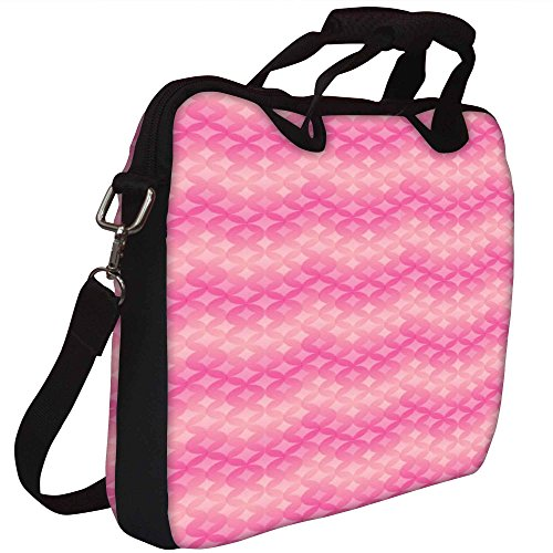 Snoogg Star Pink Kreismuster Gedruckt Notebook-Tasche mit Schultergurt 13 bis 13,6 Zoll