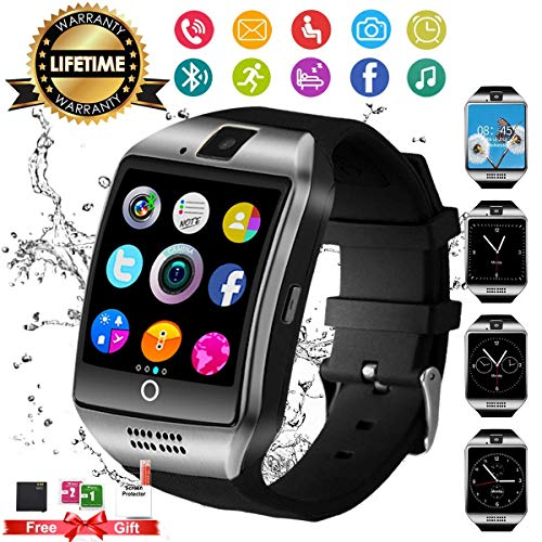 (Smart Watch,Android Smartwatch Smart Watches for Android 2018 Bluetooth Smart Watch Touchscreen With Camera, Smart Wrist Watch Cell Phone With Sim Card Slot Compatible IOS Android for Men Women Youth)