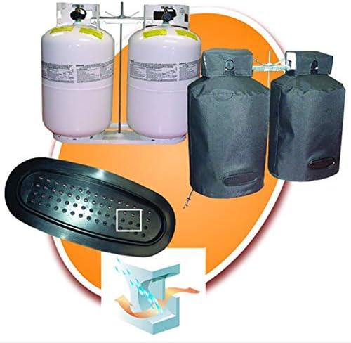 BKAUK Housse de réservoir de gaz propane imperméable à l'eau et à la poussière en tissu Oxford anti-UV, 30 kg