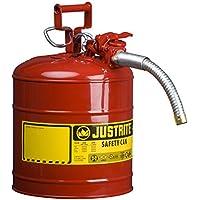 Justrite 7250130 Galvanized Steel, AccuFlow Type II Red...
