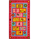 Amy & Delle Hopscotch Rug, Extra Large & Wide 72'x48' | Hop & Count - Educational & Fun | Durable Woven Floor Carpet, Kid's Floor Play Mat for Bedroom, Nursery, Classroom – Sturdy, Skid-Proof