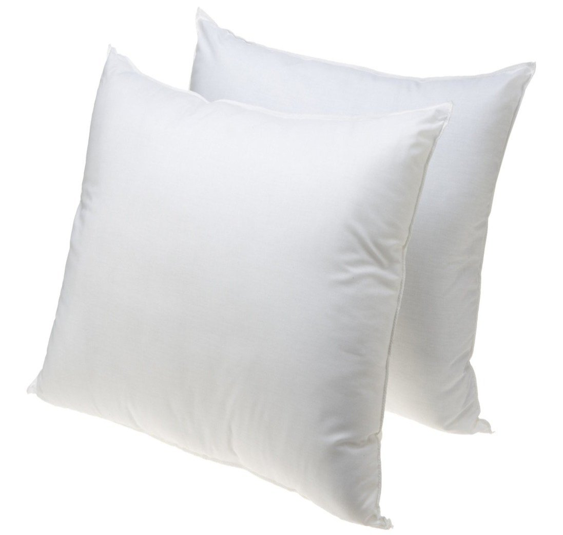 MoonRest 26-inch by 26-inch Euro Square Pillows, 2-Pack - Made in USA