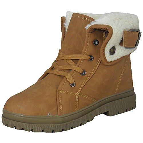 planos invierno Tamaño Tobillo para de Top 8 mujer Zapatillas Nuevas de 3 zapatos piel botas Alto Tan damas de qSCZHRw6B