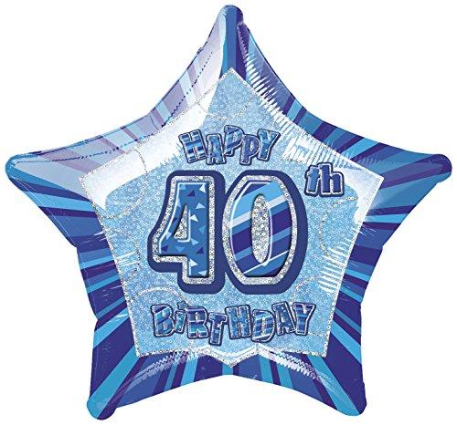 Foil Glitz Blue Birthday Balloon product image