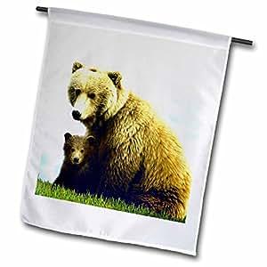 fl_510_1 Wild animals - Brown Bear - Flags - 12 x 18 inch Garden Flag