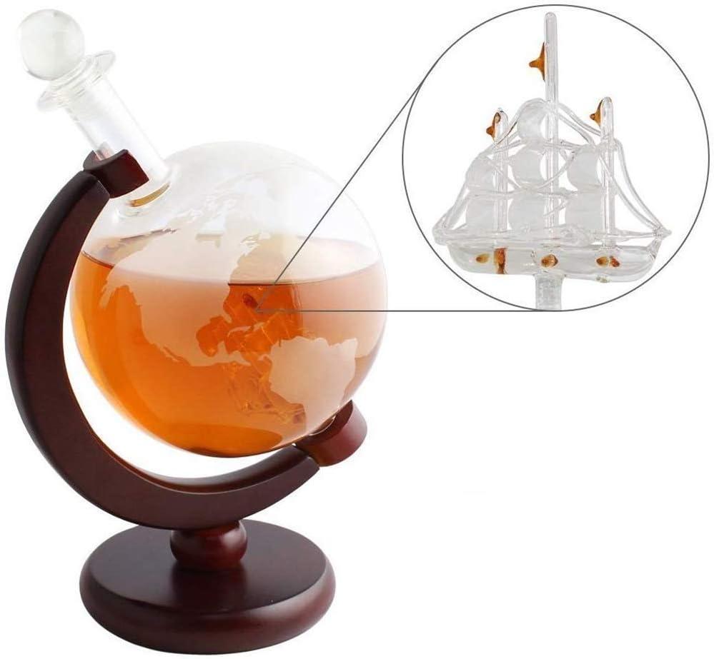 RHSMM Whisky Globe Decanter Set con velero Artesanal de ...