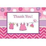 Shower with Love Girl Postcard Thank You Cards