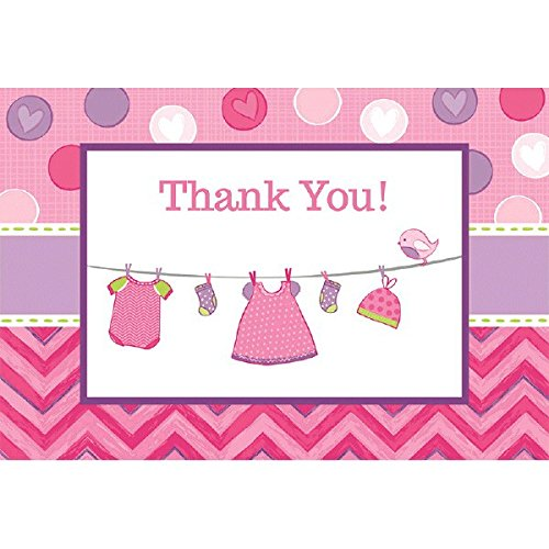 Shower with Love Girl Postcard Thank You Cards -