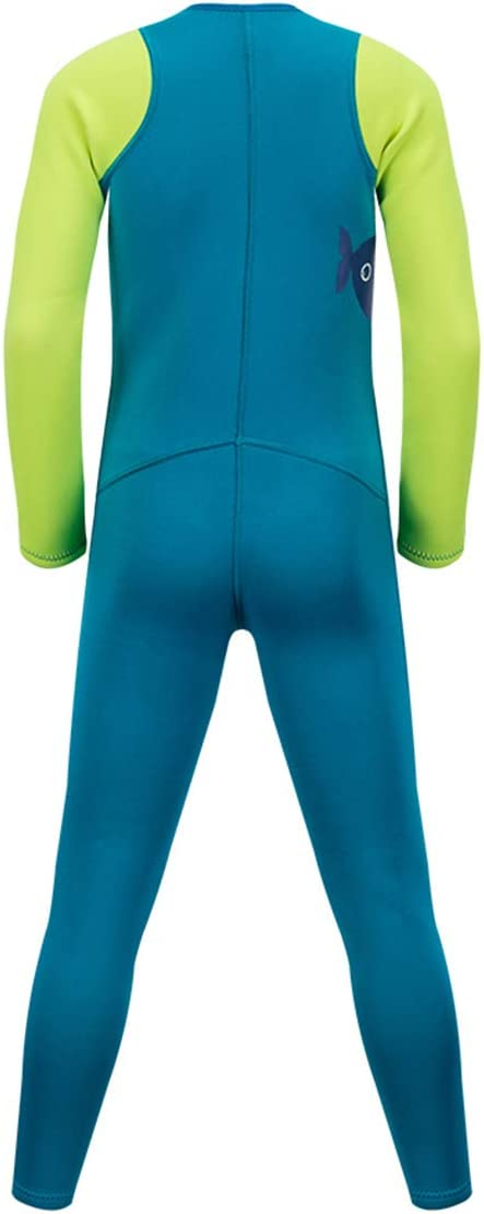 Kids Warm Wetsuit Neoprene Full Body Swimsuit Thermal Long Sleeve 2MM for Girls Boys Teens One Piece Shorty Swimming Suit UV for Surfing Scuba Diving Snorkeling Fishing