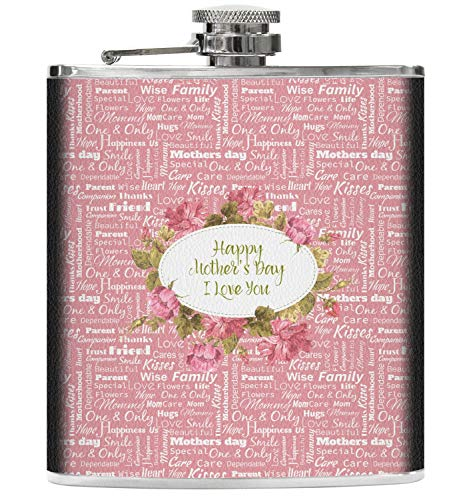 Mother's Day Genuine Leather Flask