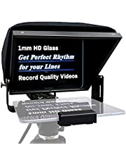 """12"""" Aluminum Teleprompter Multi-Purpose for Tablet DSLR Video Camera, APP Compatible with iPad/Android Tablet, Professional Prompting Tool for Vloggers and Media Practitioners with Carry Case"""