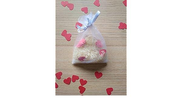Bolsas de arroz y confeti corazón para boda (Pack de 20 ...