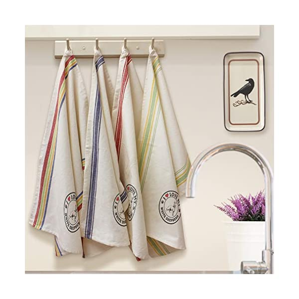 Custom Decor Kitchen Towels I Love My White Shepherd Dog Style A Pets Dogs Cleaning Supplies Dish Towels Blue Stripe Design Only 2