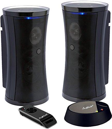 Funklautsprecher Funkboxen STEREO Aktiv Spritzwasserfest Outdoor Wireless Speaker Mp3 Drahtlos Inkl. Fernbedienung + Wandhalterung
