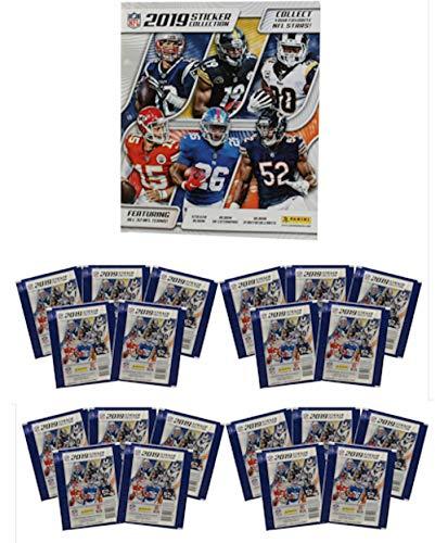 2019 Panini NFL Football Sticker Collection Starter Kit (20 packs & 1 album)