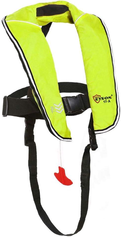 Eyson 膨張式ライフジャケット インフレータブル ライフベスト お子様用 クラシック 自動 ネオン(Neon)