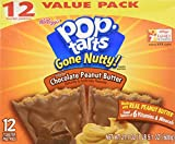 Kellogg's Pop-tarts Gone Nutty! Frosted Chocolate Peanut Butter(1box/12pastries)