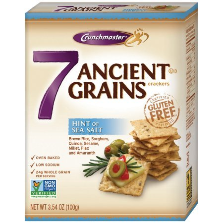 Crunchmaster 7 Ancient Grains with Hint of Sea Salt Crackers 3.54 oz Box