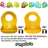 McPolo's Baby Bear 44 Silicone Baby Bib with Crumb Catcher Food Pocket - Waterproof Ultra Soft Portable Easily Wipes Clean Stains Off - Best for 4 MO to 4 YO Babies Self-Feeders & Toddlers