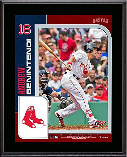 """Andrew Benintendi Boston Red Sox 10.5"""" x 13"""" Sublimated Plaque - MLB Player Plaques and Collages by Sports..."""