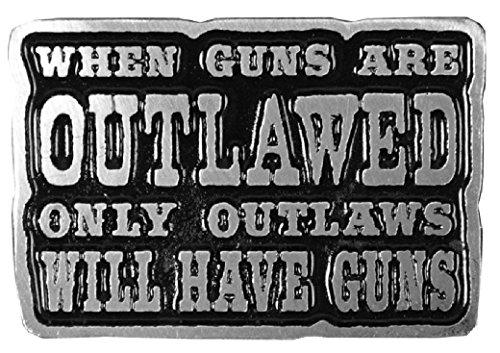 Outlawed Gun Nra Biker Harley Rider Mc Jacket Vest hat Biker Pin Biker Vest Hat