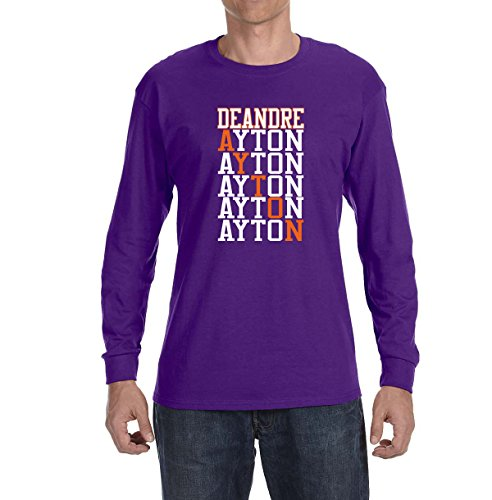 Deetz Shirts PURPLE Phoenix Ayton Text Long Sleeve Shirt YOUTH LARGE (Steve Nash Youth Jersey)