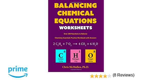 Counting Number worksheets fun chemistry worksheets : Balancing Chemical Equations Worksheets (Over 200 Reactions to ...