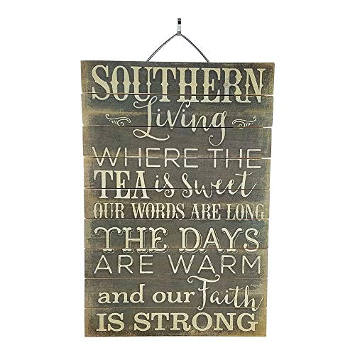 Imprints Plus Southern Living Inspirational Distressed Wood Sign, 12