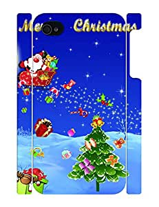 Fancy Romantical Festival Series Snow Pattern Phone Cover Skin for Iphone 4 4S Case