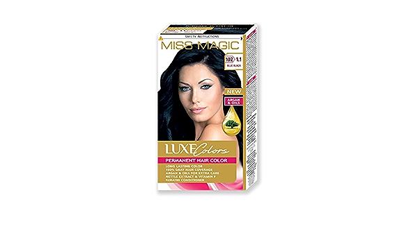 Tinta para pelo Miss Magic Tinte Negro Azul Hair Colour con ...