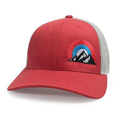 WUE Outdoors Big Mountains Trucker Cap - Mesh Hat Heather ()