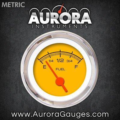 GAR231ZMXKABAH Competition Yellow Fuel Level Gauge 6689 Aurora Instruments